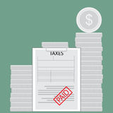 Taxes paid money saved Stock Photos