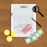 Taxes paid vector concept Royalty Free Stock Photos