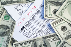 Taxes paperwork deadline Royalty Free Stock Images