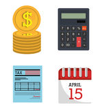 Taxes payday graphic Stock Photography