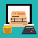 Taxes payday graphic Stock Images