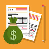Taxes payday graphic Royalty Free Stock Photo
