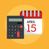Taxes payday graphic Stock Photos