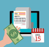 Taxes payday graphic Royalty Free Stock Image