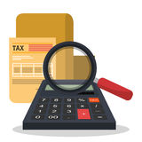 Taxes payday graphic Royalty Free Stock Images