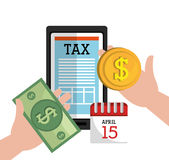 Taxes payday graphic Stock Image