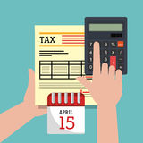 Taxes payday graphic Royalty Free Stock Photography