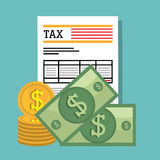 Taxes payday graphic Stock Photo
