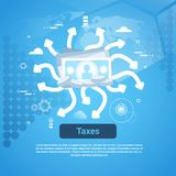 Taxes Payment Concept Web Banner. Taxes Payment Concept Web Banner With Copy Space Flat Vector Illustration Royalty Free Stock Images