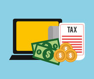 Taxes payment day Royalty Free Stock Images