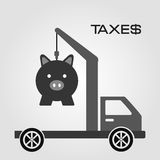 Taxes payment Stock Images