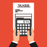 Taxes payment. Design, vector illustration eps10 graphic Stock Image