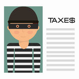 Taxes payment Royalty Free Stock Photos