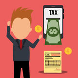 Taxes payment Stock Photo
