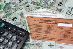 Taxes in poland Royalty Free Stock Images