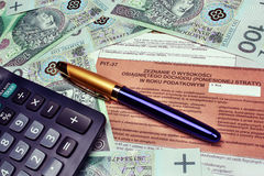Taxes in poland Royalty Free Stock Photo