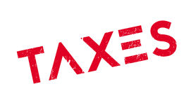 Taxes rubber stamp Royalty Free Stock Photography