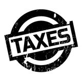 Taxes rubber stamp Royalty Free Stock Photo