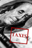 Taxes Stamp Royalty Free Stock Photos