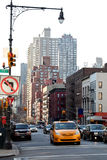 Taxi à New York Photos libres de droits
