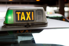 Taxi światło Zdjęcia Royalty Free