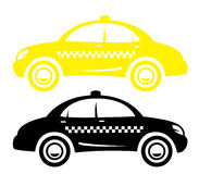 Taxi. Two taxis of different color Royalty Free Stock Photos