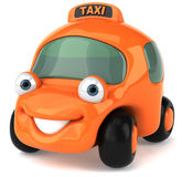 Taxi. Cute taxi car, 3d generated picture Royalty Free Stock Photography