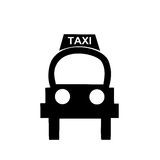 Taxi. This image may be employed in making cartels and timetables, or indicating a transport service, tourist and urban areas Royalty Free Illustration