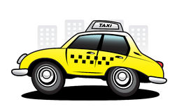 Taxi. The yellow taxi car in action Stock Photography
