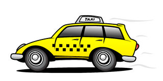 Taxi. The universal taxi in action Stock Images