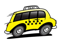 Taxi. The taxi bus in action Stock Photos