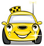 Taxi. The yellow smiling cartoon car of a taxi royalty free illustration