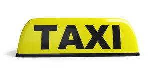 Taxi. On a white background Stock Image