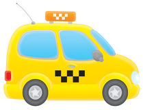Taxi. Isolated clip-art illustration of a yellow taxi-cab Royalty Free Stock Image