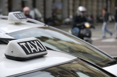 Taxi Royalty-vrije Stock Fotografie