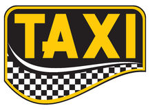 Taxi. Advertisement for a taxi, a taxi passenger Stock Image