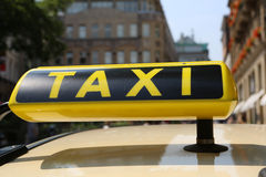 Taxi. Sign at downtown Cologne Stock Photography