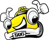 Taxi. The cartoon taxi in perfect emotion Royalty Free Stock Image