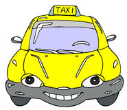 Taxi. Hand drawn cartoon taxi car Royalty Free Stock Photo