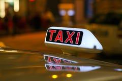 Taxi Foto de archivo libre de regalías