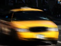 Taxi. A new york taxi driving at full speed stock photography