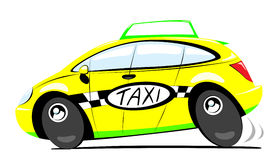 Taxi. Yellow city taxi in action Stock Image