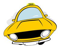 Taxi. 3 original standing cartoon cars Royalty Free Stock Images