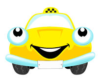 Taxi. The cartoon nice taxi car Royalty Free Stock Image