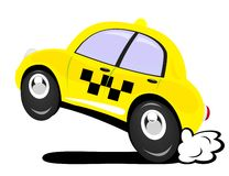 Taxi. The taxi car in action Royalty Free Stock Image
