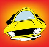 Taxi. Yellow taxi car with background Royalty Free Stock Photos