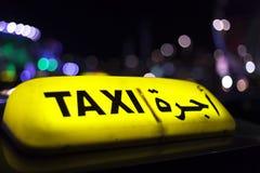 Taxi in Abu Dhabi Lizenzfreies Stockbild
