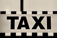 Taxi advert Royalty Free Stock Photos