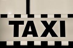 Taxi advert Royalty Free Stock Photos