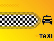 Taxi advertising background with cab and arrow Stock Photo